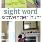 Sight Words Scavenger Hunt