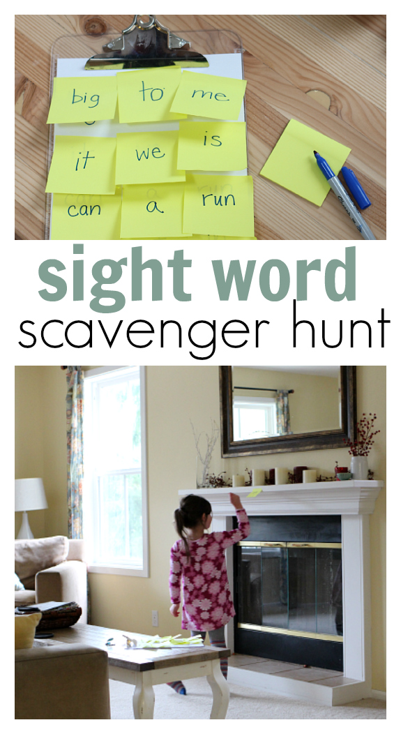 Sight Word Scavenger Hunt For Kids on 4 Year Old Flash Cards