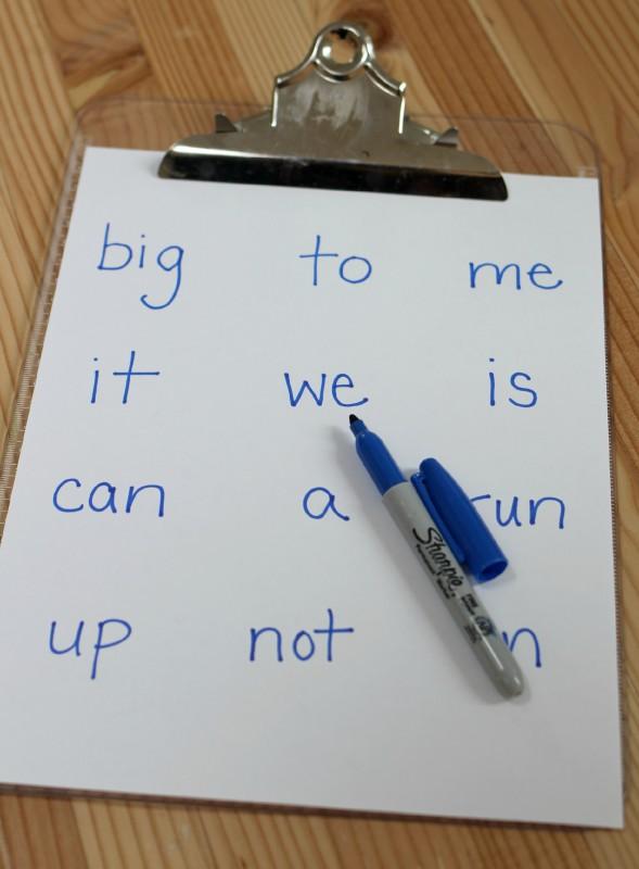 simple sight word activity for kindergarten