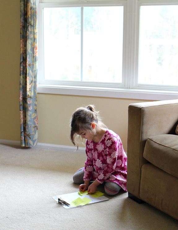 simple sight words game for kids