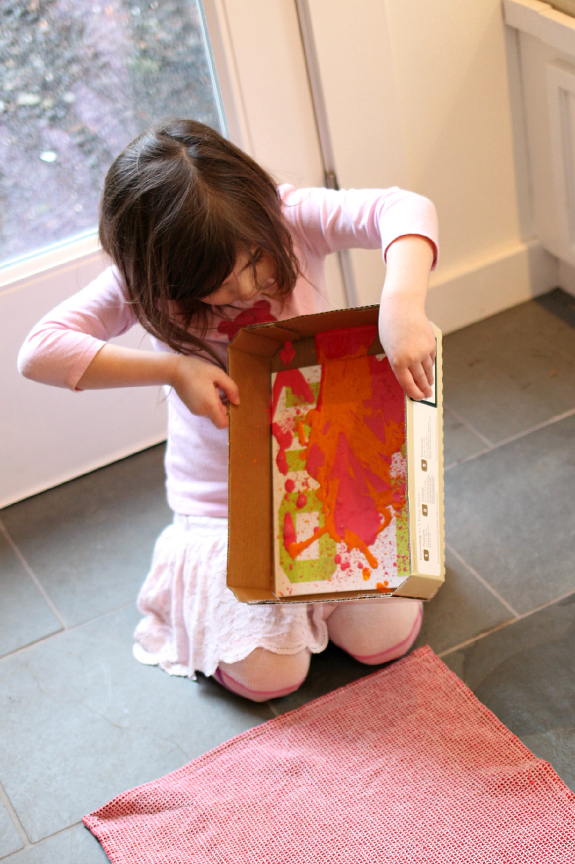 valentine's day art canvas project