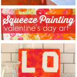 Squeeze Painting – Valentine's Day Art Project