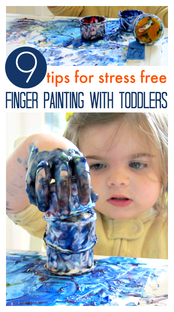 finger painting for toddlers