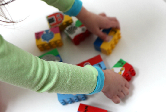 Duplo rhyming puzzles for kids