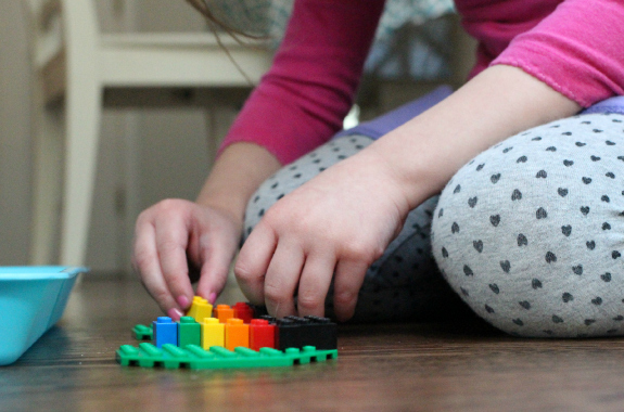 Lego challenge for preschool st paddy's day