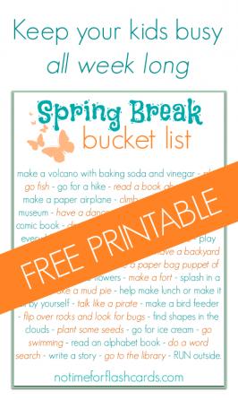 Spring Break Bucket List – FREE PRINTABLE