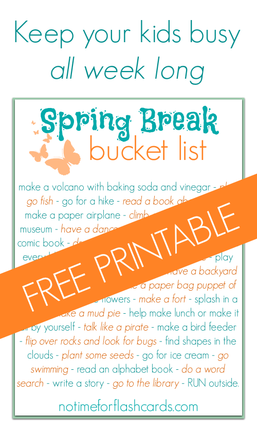 spring breka bucket list