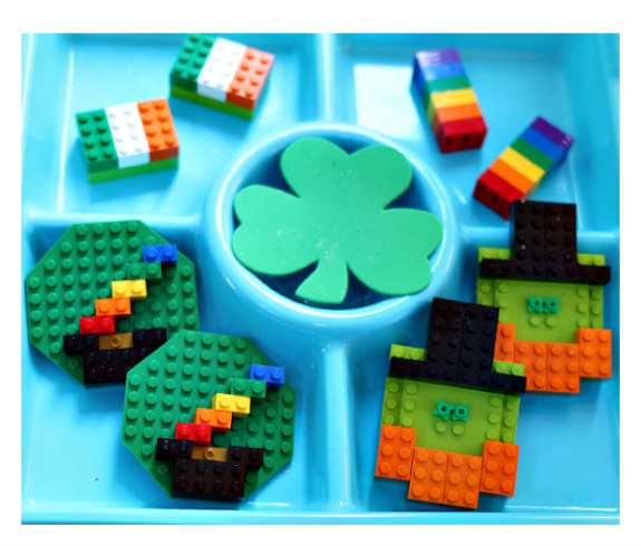 lego challenge st.patrick's day