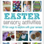 Easter Sensory Activities that you can touch, taste, see, smell, and hear!