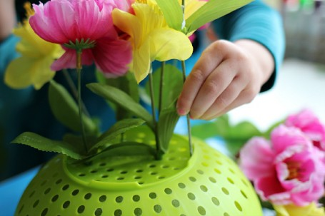 fine motor flower arrangements preschool