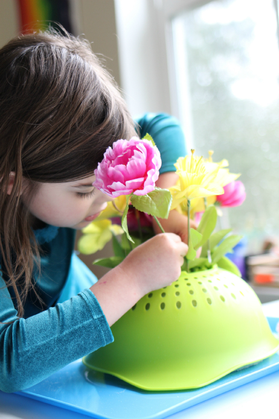 Spring Flower Fine Motor Tray Activity No Time For Flash