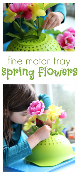 Spring Flower Fine Motor Tray Activity