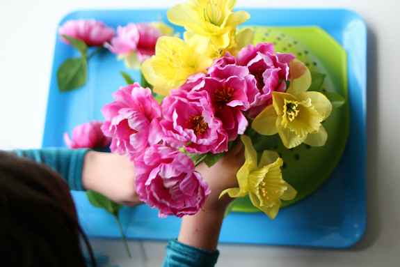 flower arrangements fine motor activity for preschool