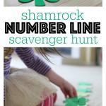 Shamrock Number Line Scavenger Hunt