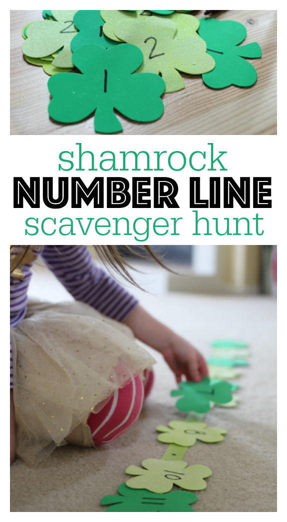 number line scavenger hunt activity