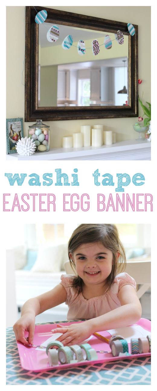 easter egg craft for kids with washi tape