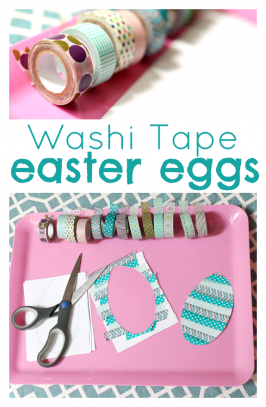 washit tape easter egg craft for kids