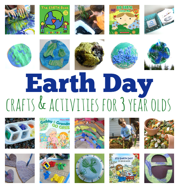Earth Day Crafts And Activities For 3 Year Olds No Time For Flash
