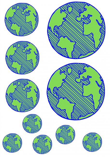 earth sort by size