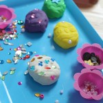 Easter Egg Play Dough Tray Activity