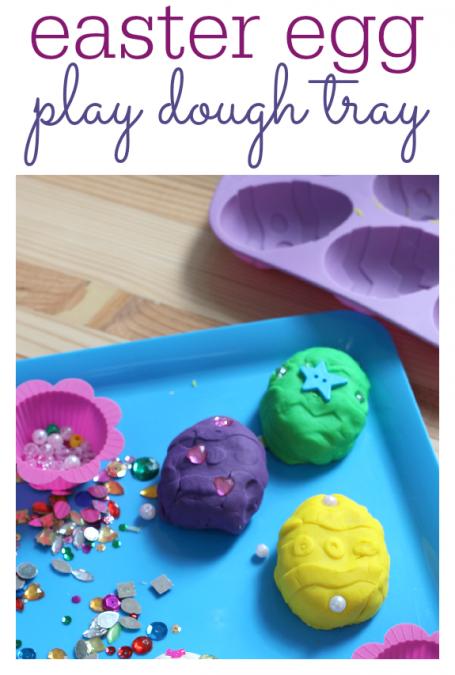 how to make playdough easter eggs