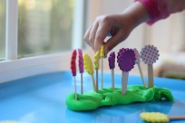 flower playdough activity