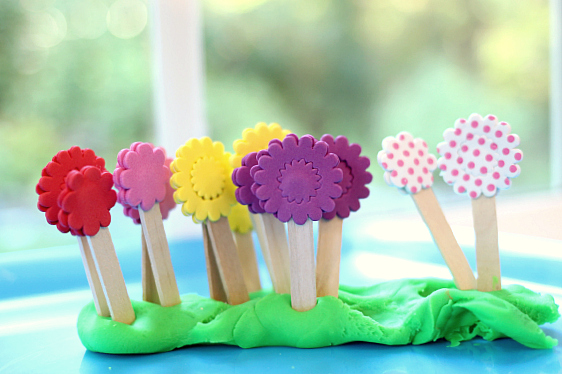 Play dough activity for spring