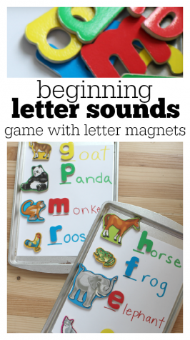 Beginning Letter Sounds Game Homework