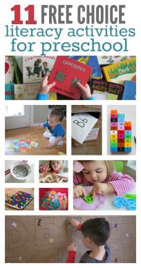literacy activities for preschool