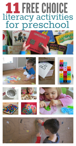 11 Literacy Activities For Preschool Free Choice Time