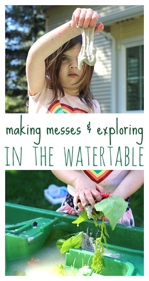 sensory play outside