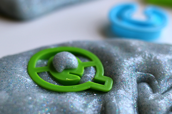 slime and cookie cutters with gak