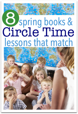 Spring Circle Time Lessons with books to match { FREE Printables included! }
