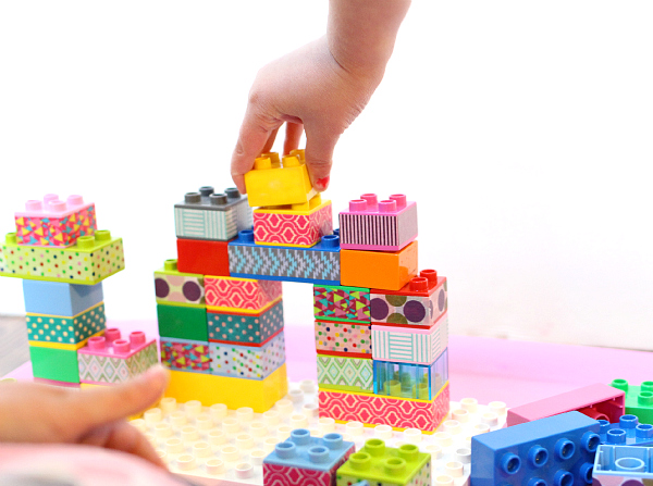 washi tape blocks for kids