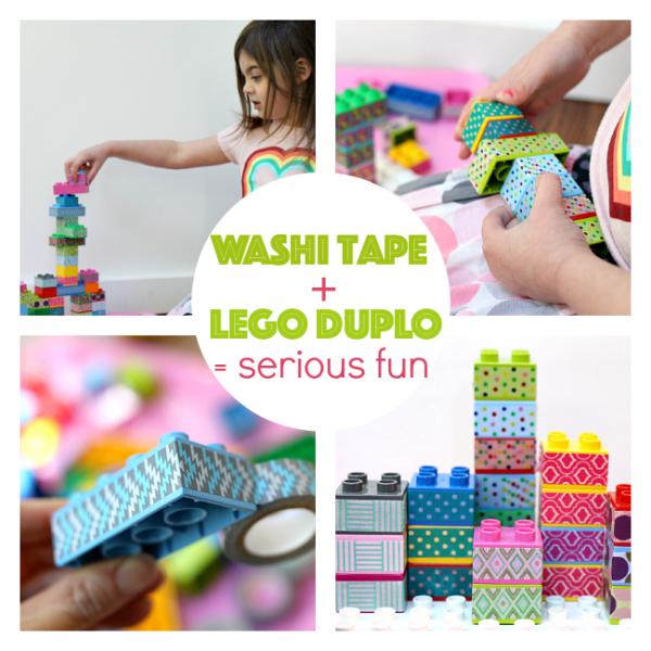 washi tape and duplo