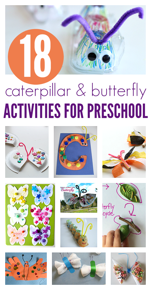 18 Caterpillar Butterfly Activities For Preschool And Books Too