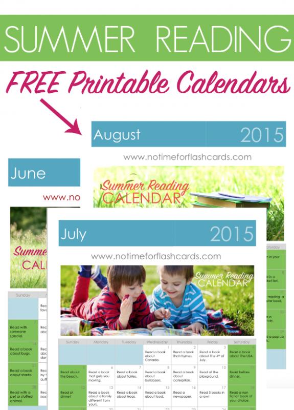 summer reading calendar
