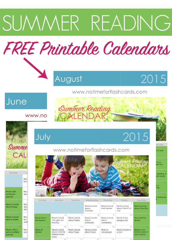 summer reading calendars - free printables