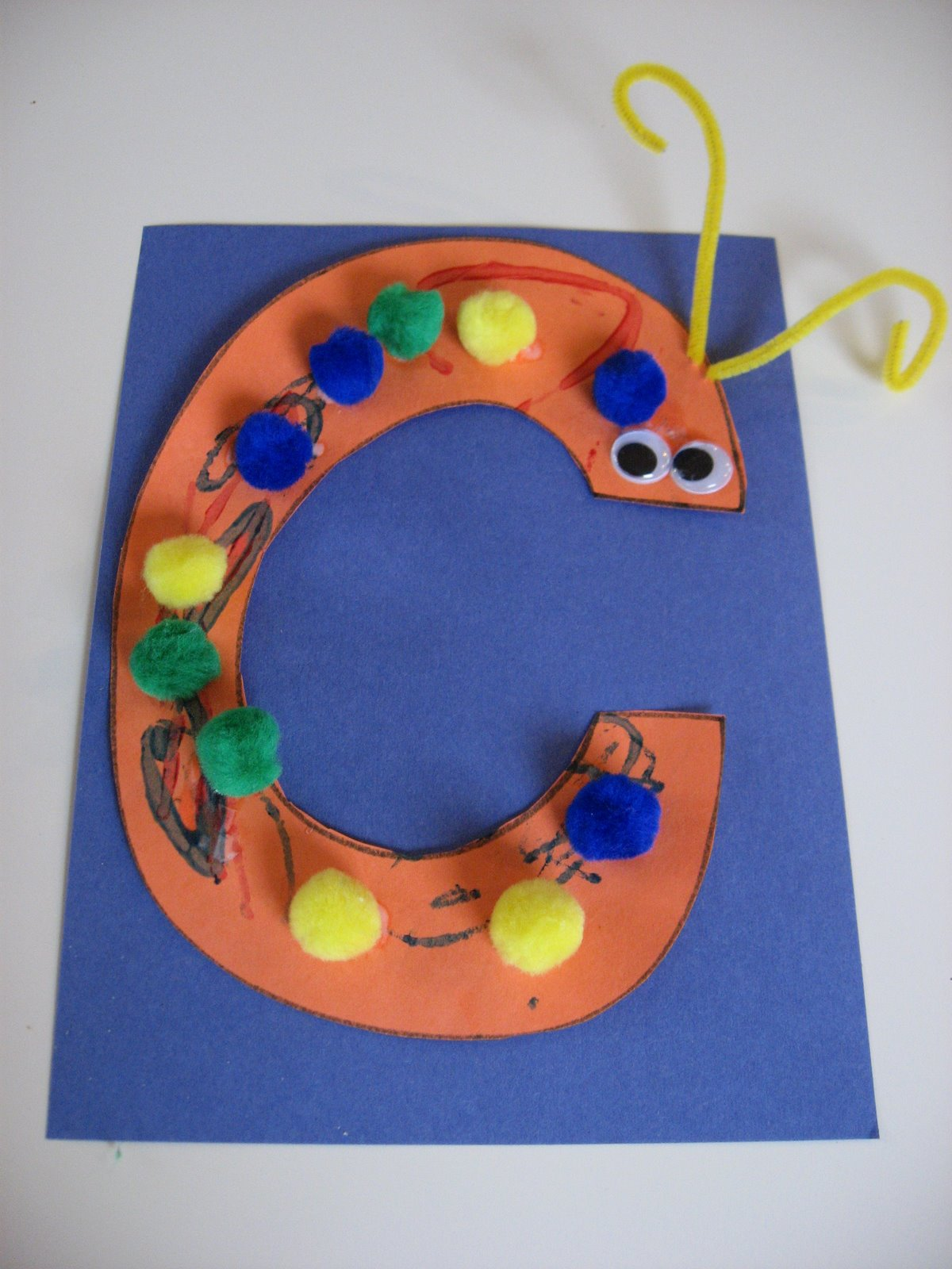 Caterpillar C Letter Craft