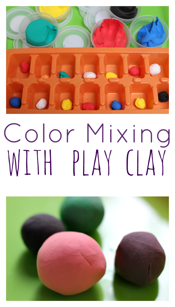 Color Mixing With Play Clay Hand Strength Activity