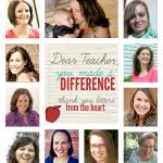 Dear Teacher, You Made A Difference!  Teacher Appreciation Special!