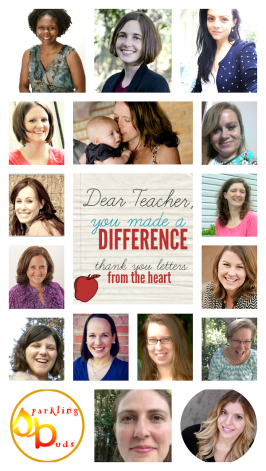 Dear Teacher, You Made A Difference!  Teacher Appreciation Special!