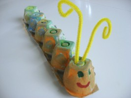 egg carton caterpillar classic craft