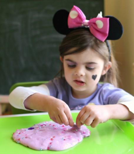 fine motor sensory play princess slime