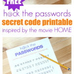 BOOV Passwords – FREE Secret Code Printable