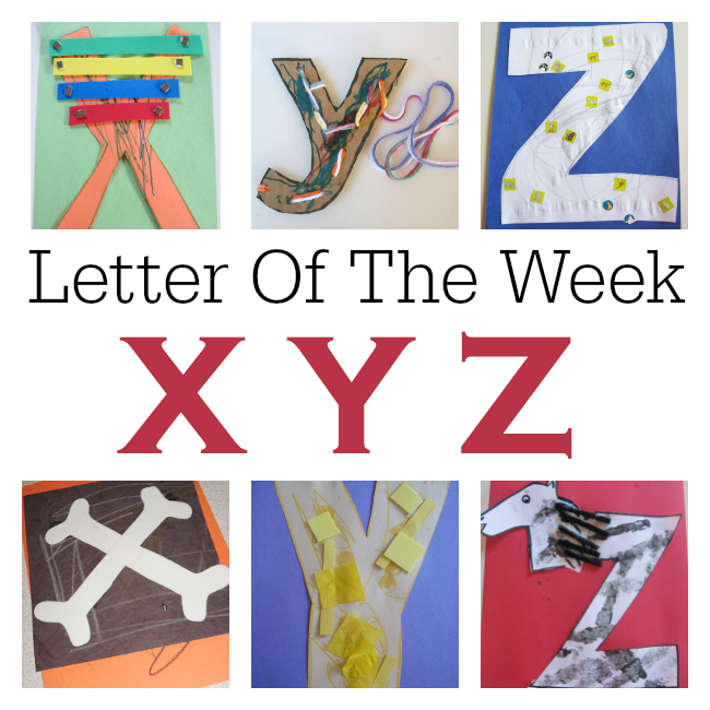 Letter Of The Week - X Y Z Crafts and Activities - No Time