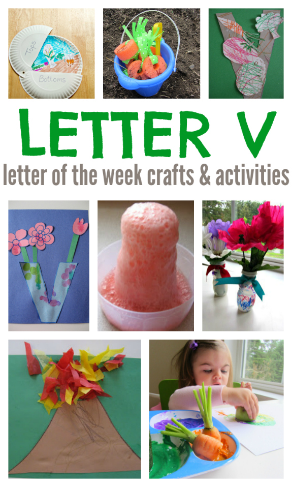 letter of the week v crafts and activities