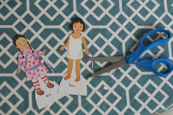 paper doll activity