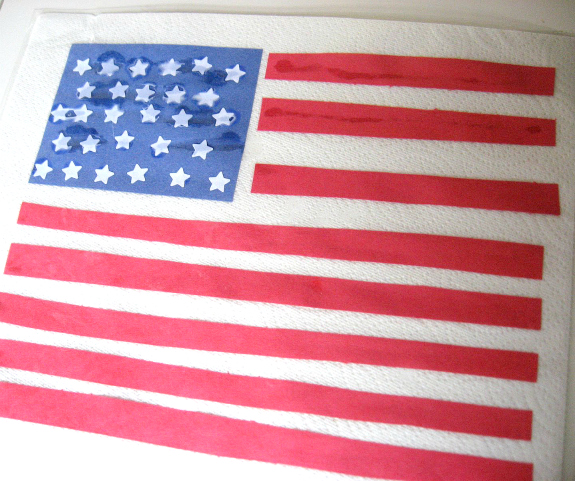 American flag place mat craft