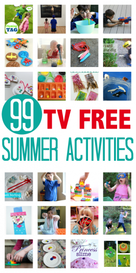 99 TV Free Summer Activities For Kids